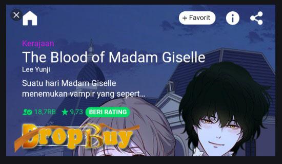 webtoon the blood of madam giselle