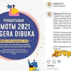 Cara Pendaftaran Fmotm 2021 di http //fmotm.pusdatin-dinsos.jakarta